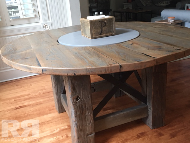 Round Table Built In Lazy Susan Reclaim Renew